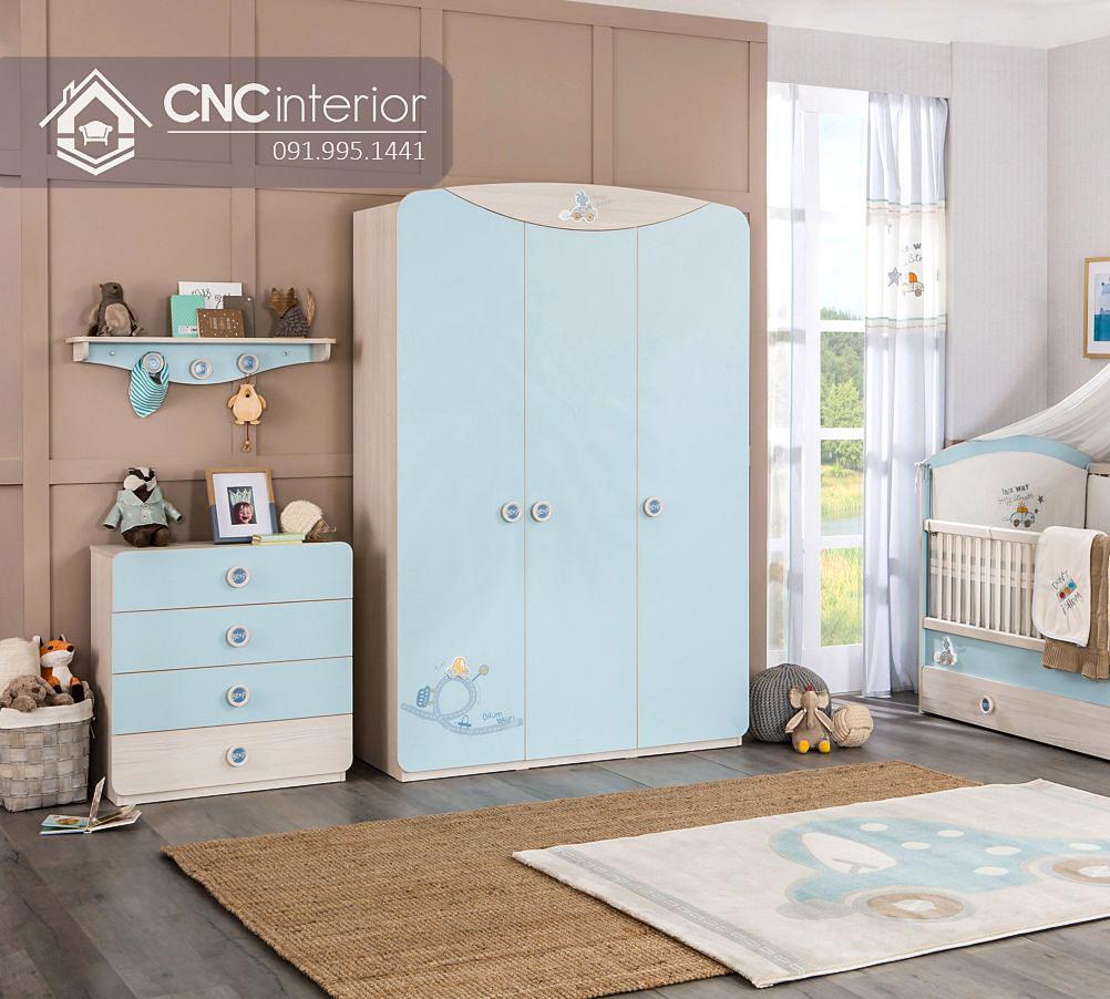 Tủ đựng quần áo đẹp hiện đại cho bé CNC 30 1
