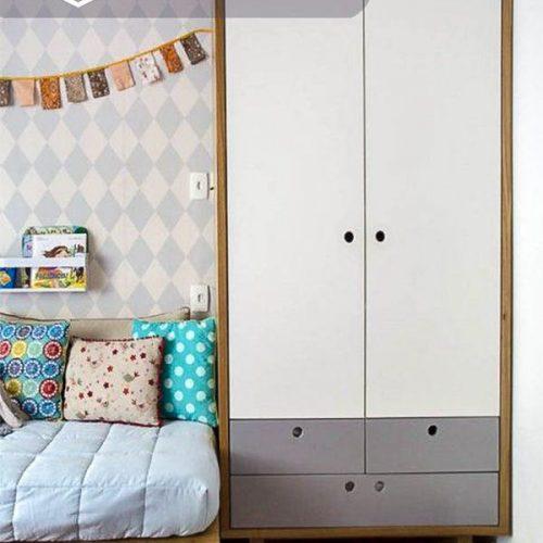 Tủ quần áo trẻ em bằng gỗ cnc 32