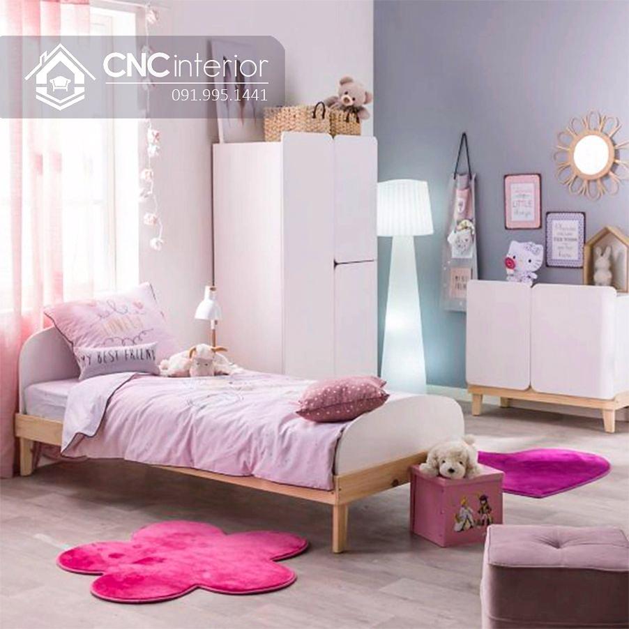 Tủ quần áo trẻ em bằng gỗ đơn giản CNC 34