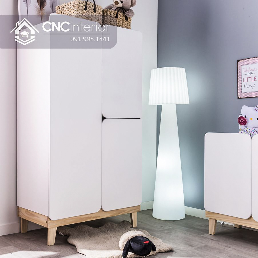 Tủ quần áo trẻ em bằng gỗ đơn giản CNC 34 1
