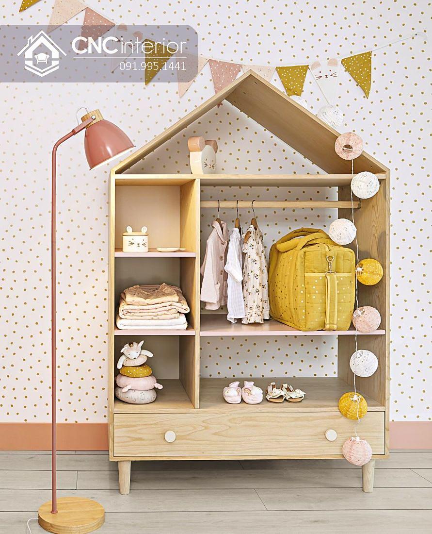 Tủ quần áo trẻ em bằng gỗ cnc 35