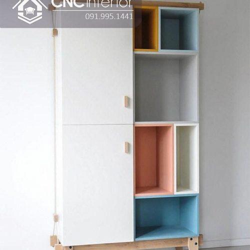 Tủ quần áo trẻ em bằng gỗ cnc 38