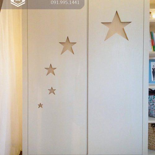 Tủ quần áo trẻ em bằng gỗ cnc 39