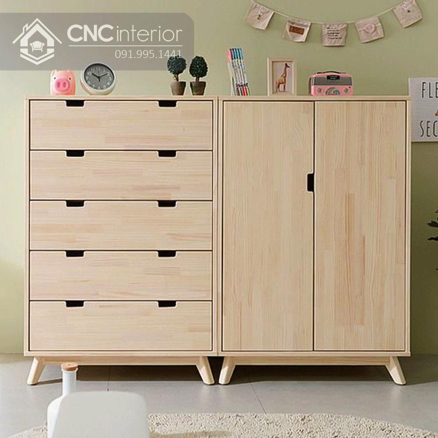Tủ quần áo màu hồng cho bé gái CNC 12 1