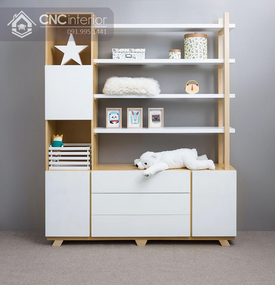 Tủ quần áo cho bé kết hợp kệ trang trí CNC 15