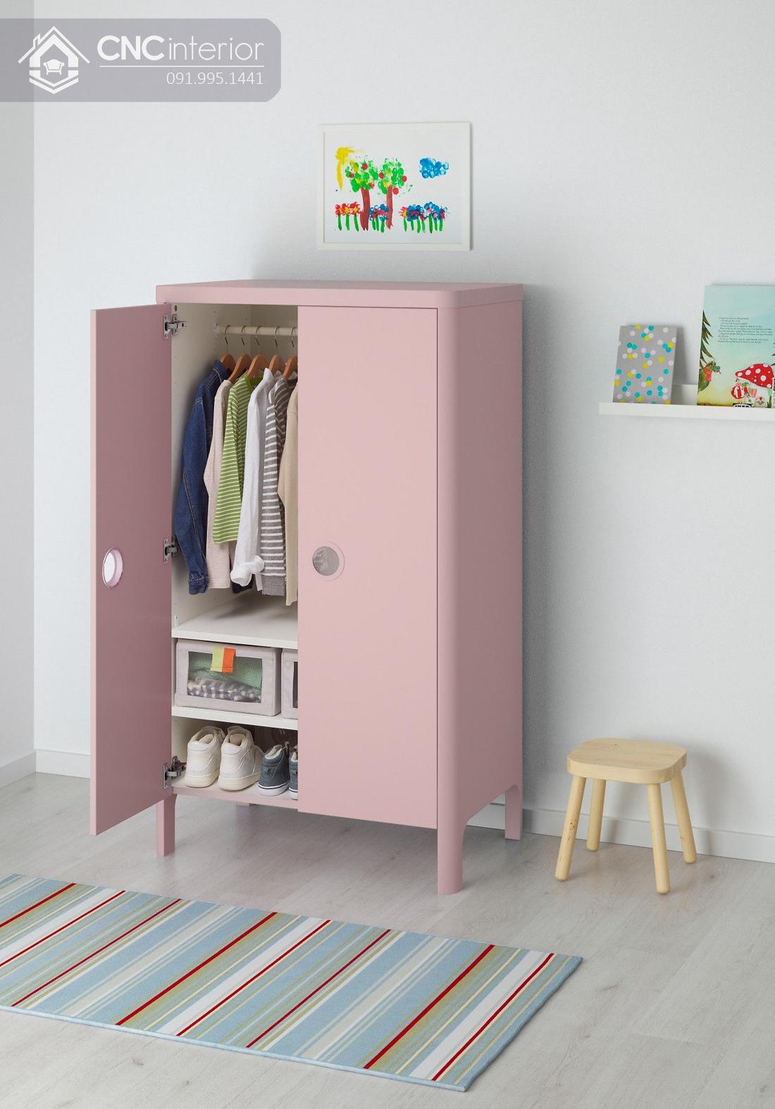Tủ đựng quần áo đơn giản cho bé CNC 18