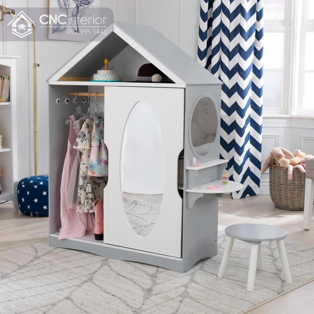 Tủ đựng quần áo độc đáo cho bé gái CNC 20