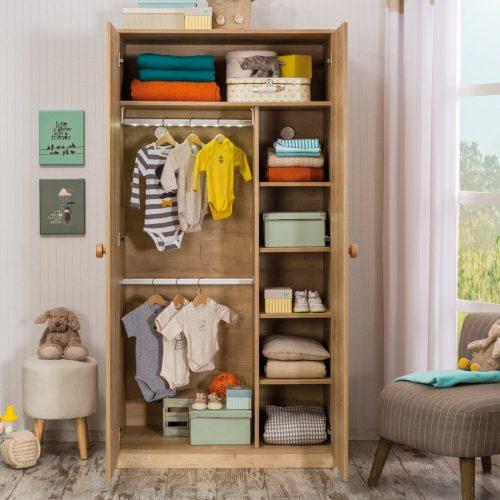 Tủ quần áo trẻ em bằng gỗ CNC 22