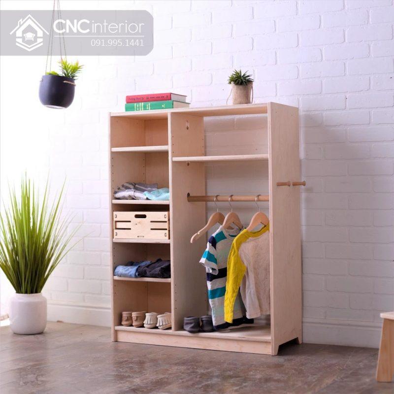 Tủ quần áo trẻ em bằng gỗ CNC 25