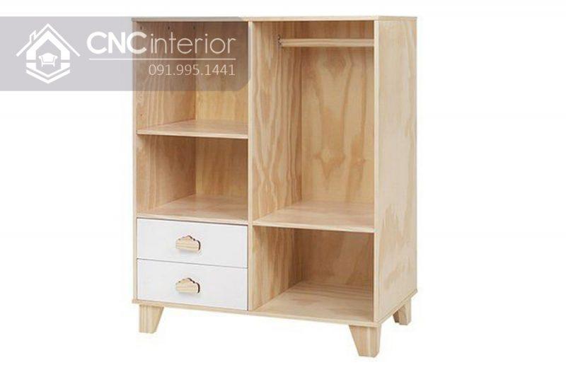 Tủ quần áo trẻ em bằng gỗ CNC 26