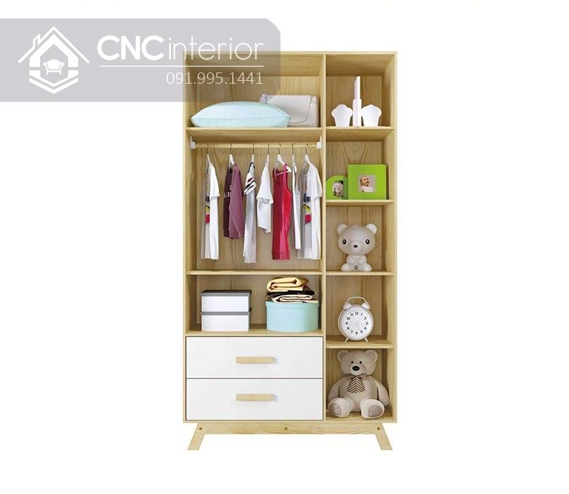 Tủ đồ em bé kết hợp kệ trang trí CNC 33 1