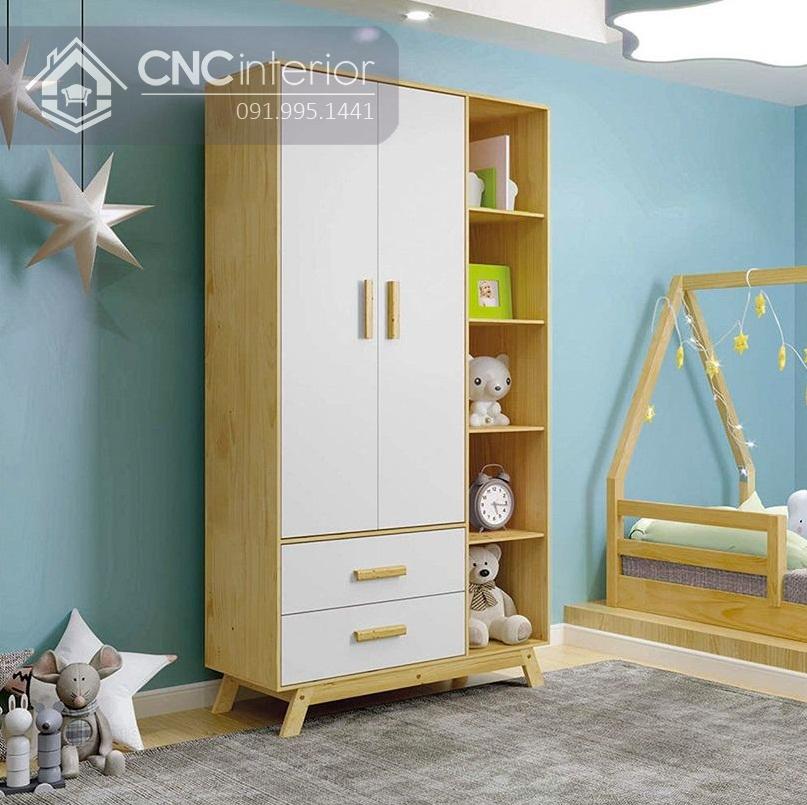 Tủ đồ em bé kết hợp kệ trang trí CNC 33