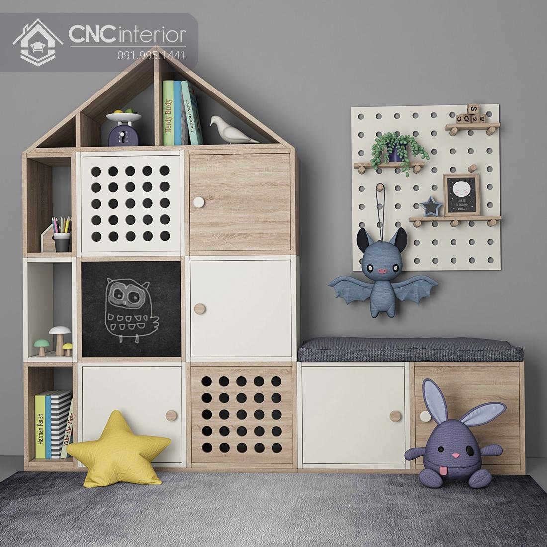 Tủ quần áo trẻ em bằng gỗ CNC 74