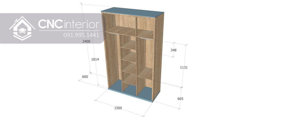 Tủ quần áo CNC 10-3