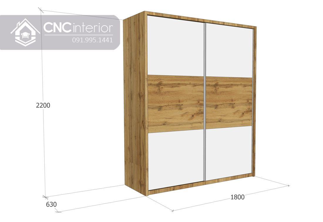 Tủ quần áo cửa lùa gỗ công nghiệp cao cấp CNC 31 2