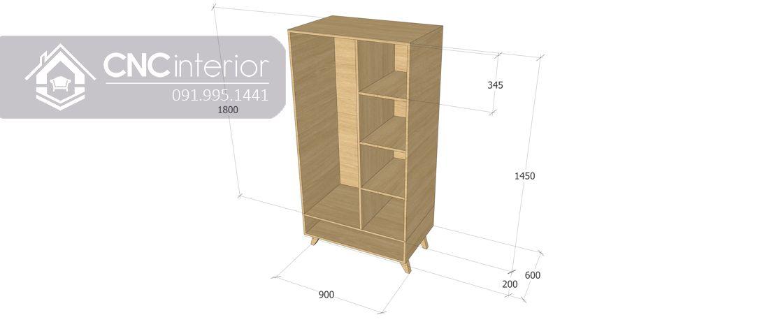 Tủ quần áo CNC 12-6