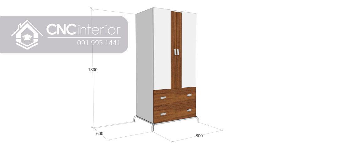 Tủ quần áo gỗ công nghiệp MFC bền chắc CNC 28 2