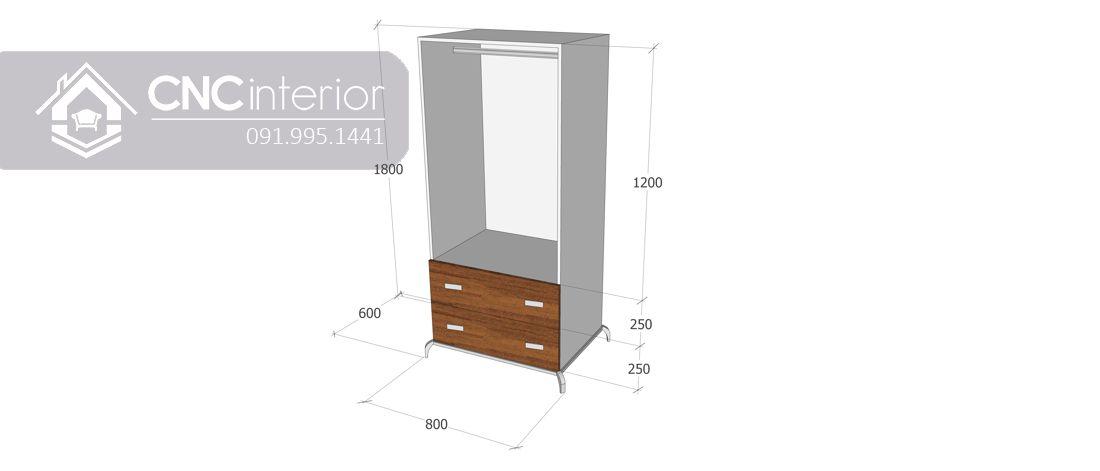 Tủ quần áo gỗ công nghiệp MFC bền chắc CNC 28 3