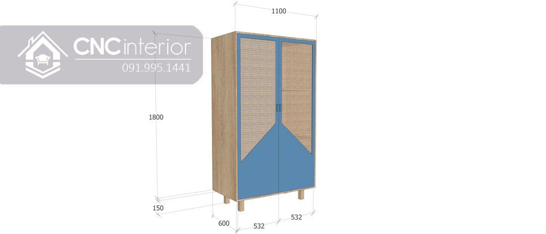 Tủ quần áo CNC 06 - 4