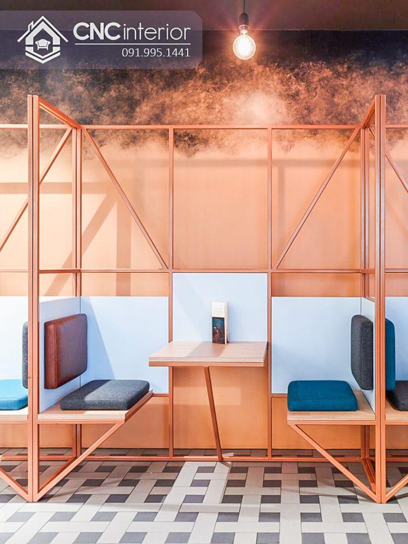 Bàn ghế cafe CNC 01