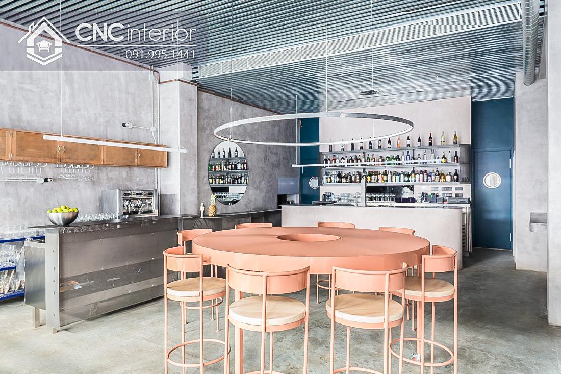 Bàn ghế cafe CNC 11