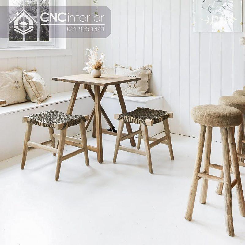 Bàn ghế cafe CNC 12