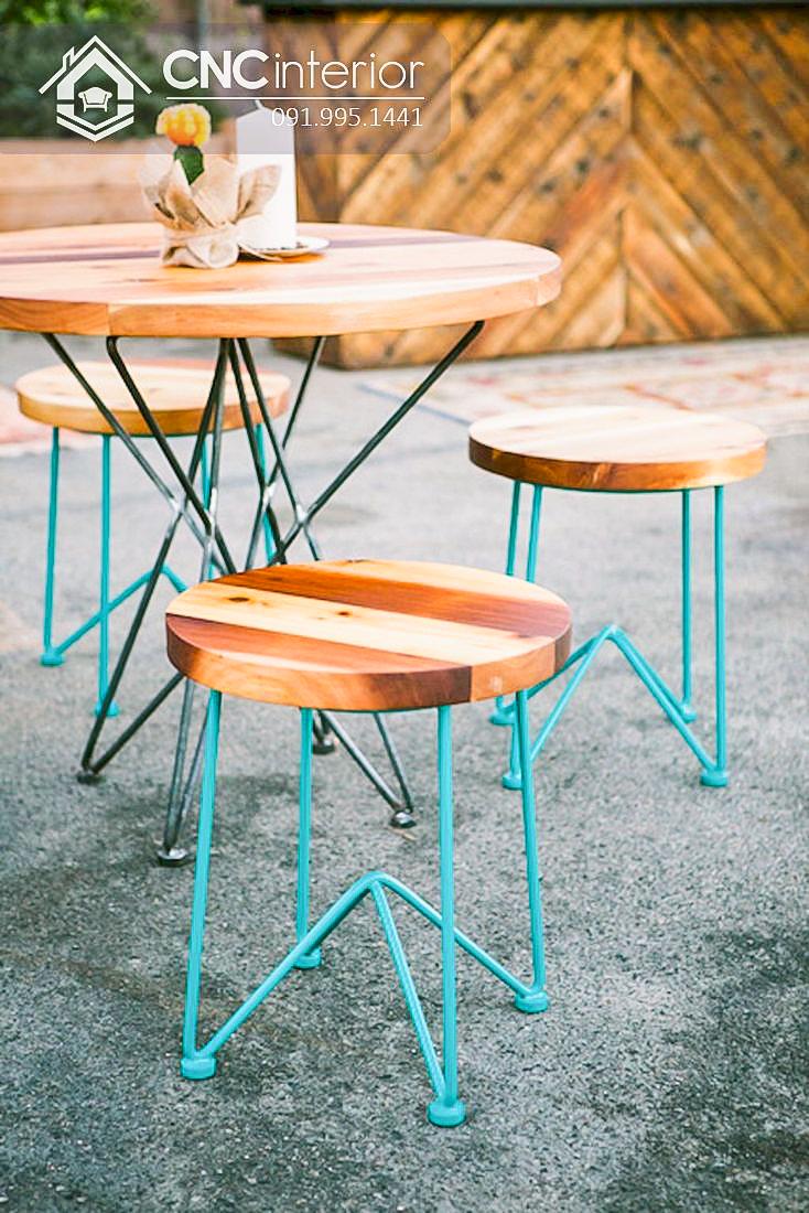 Bàn ghế cafe CNC 14