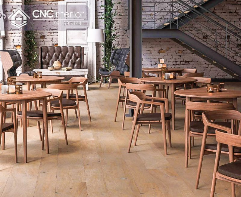 Bàn ghế cafe CNC 17