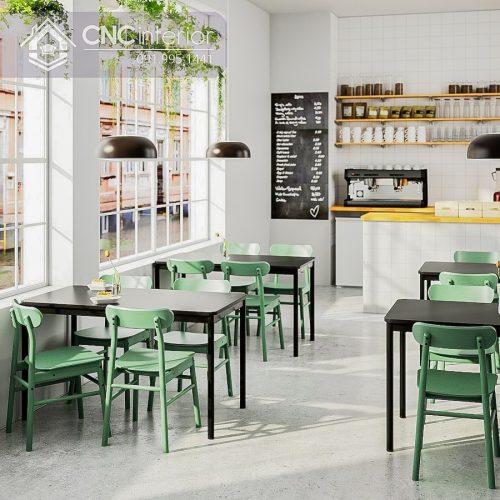 Bàn ghế cafe CNC 18