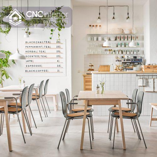 Bàn ghế cafe CNC 03
