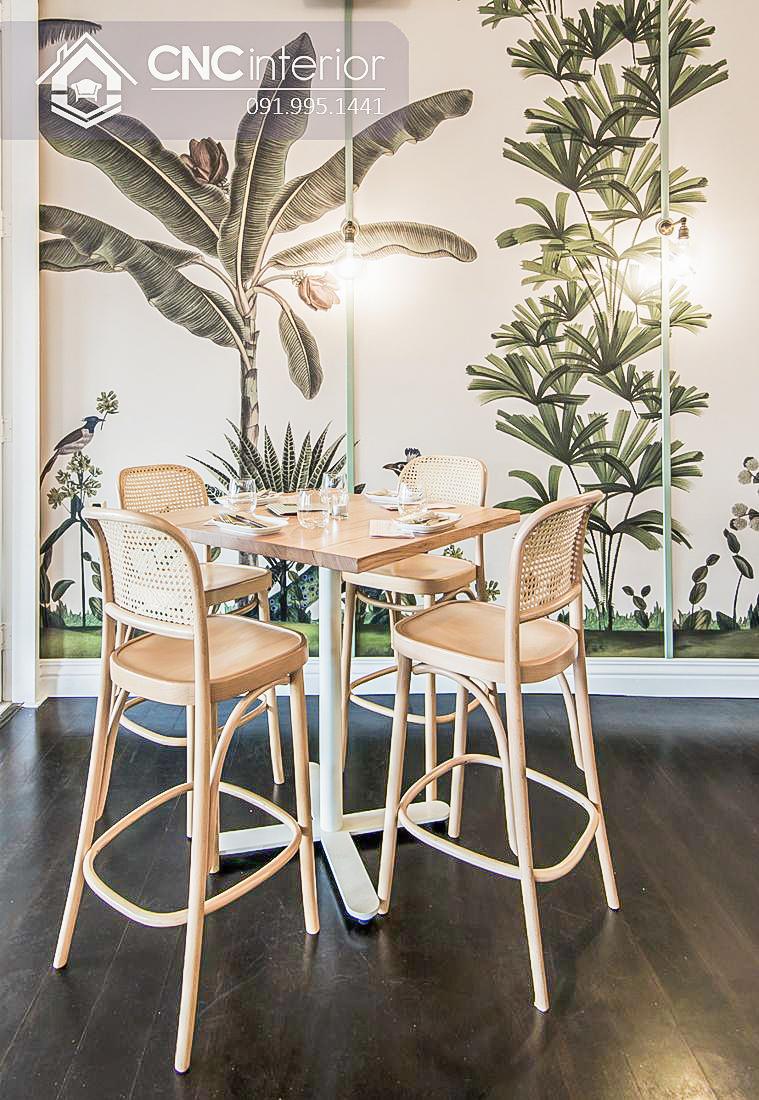 Bàn ghế cafe CNC 33