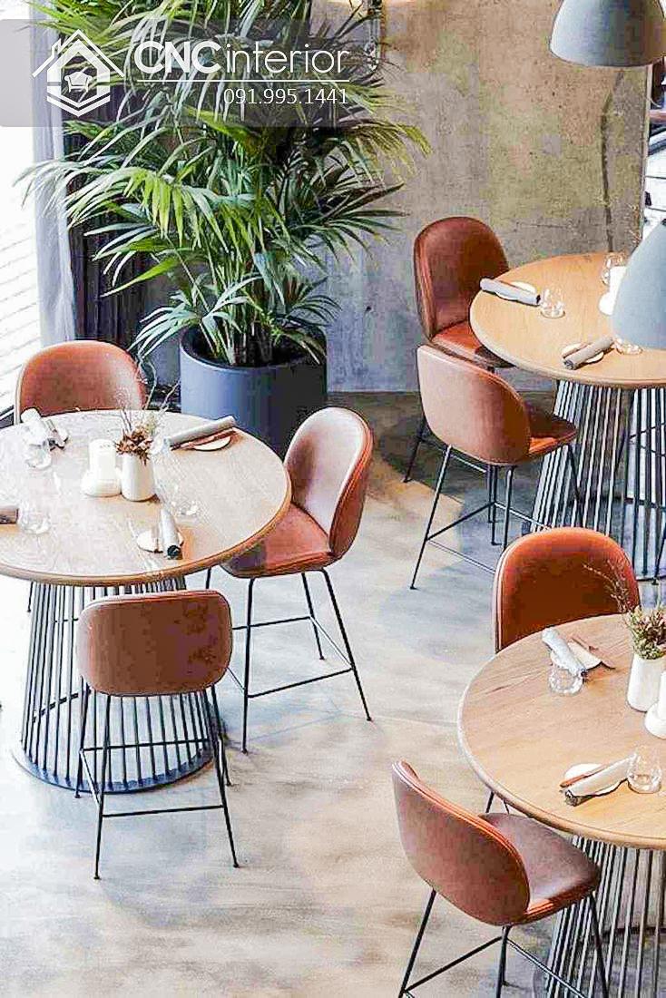 Bàn ghế cafe CNC 37