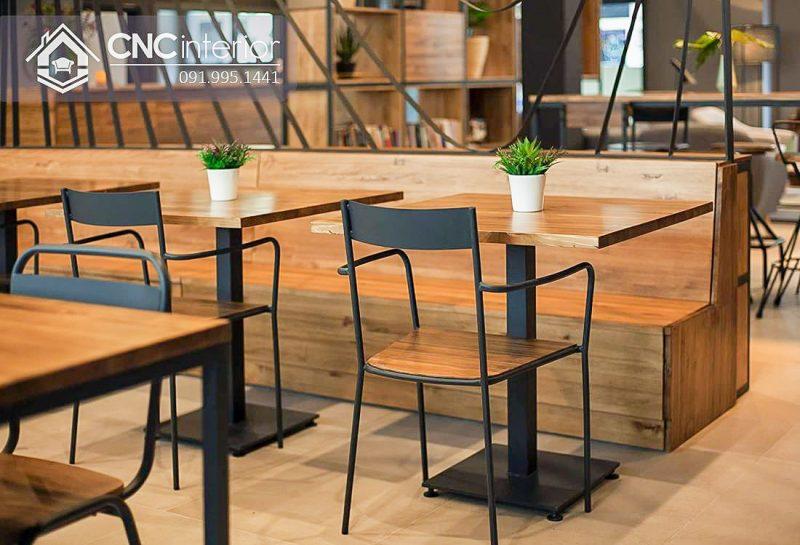 Bàn ghế cafe CNC 39