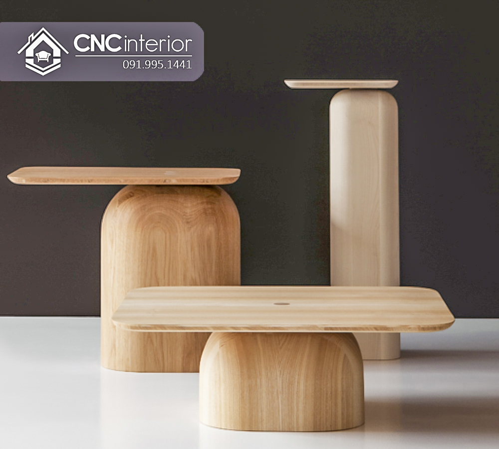 Bàn ghế cafe gỗ Sồi CNC 52 1