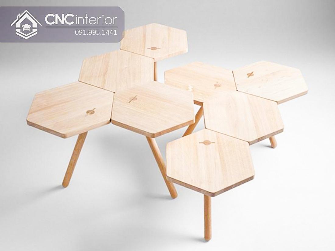 Bàn ghế cafe gỗ công nghiệp CNC 67 2