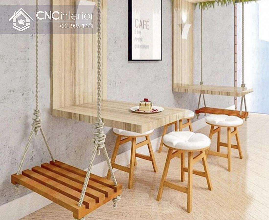 Bàn ghế cafe CNC 08