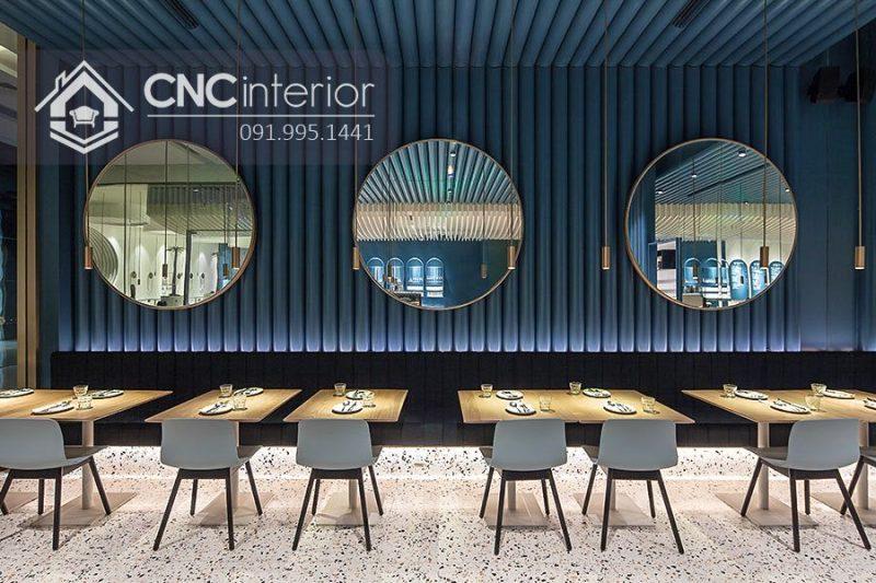 Bàn ghế nhà hàng cnc 03