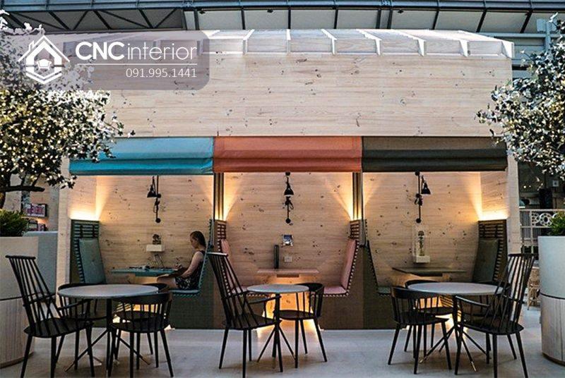 Bàn ghế nhà hàng cnc 04