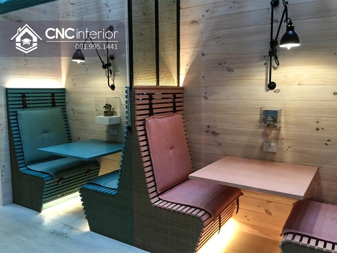 Bàn ghế nhà hàng đẹp ấn tượng CNC 04 2