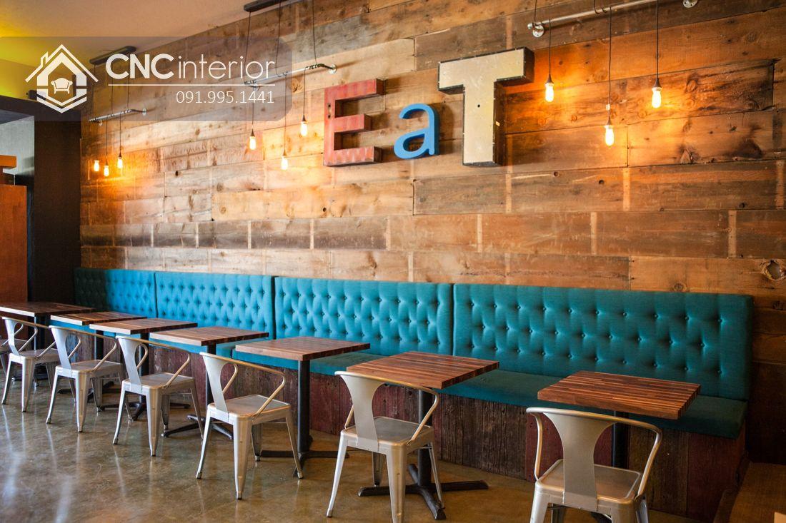 Bàn ghế ăn nhà hàng đẹp cá tính CNC 08