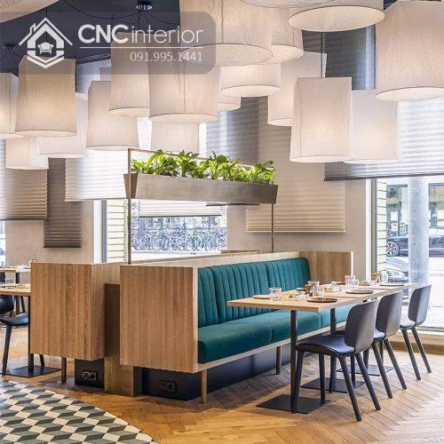 Bàn ghế nhà hàng cnc 09