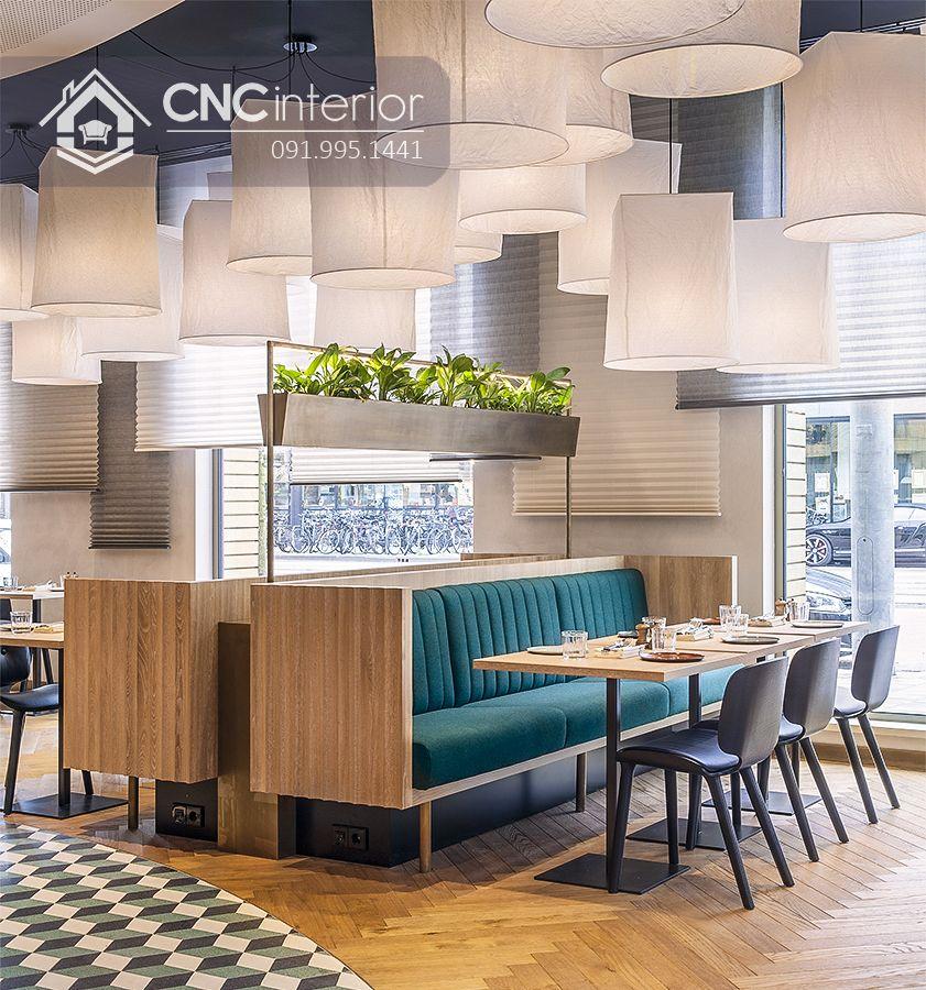 Bàn ăn nhà hàng 6 ghế cho gia đình CNC 09 1