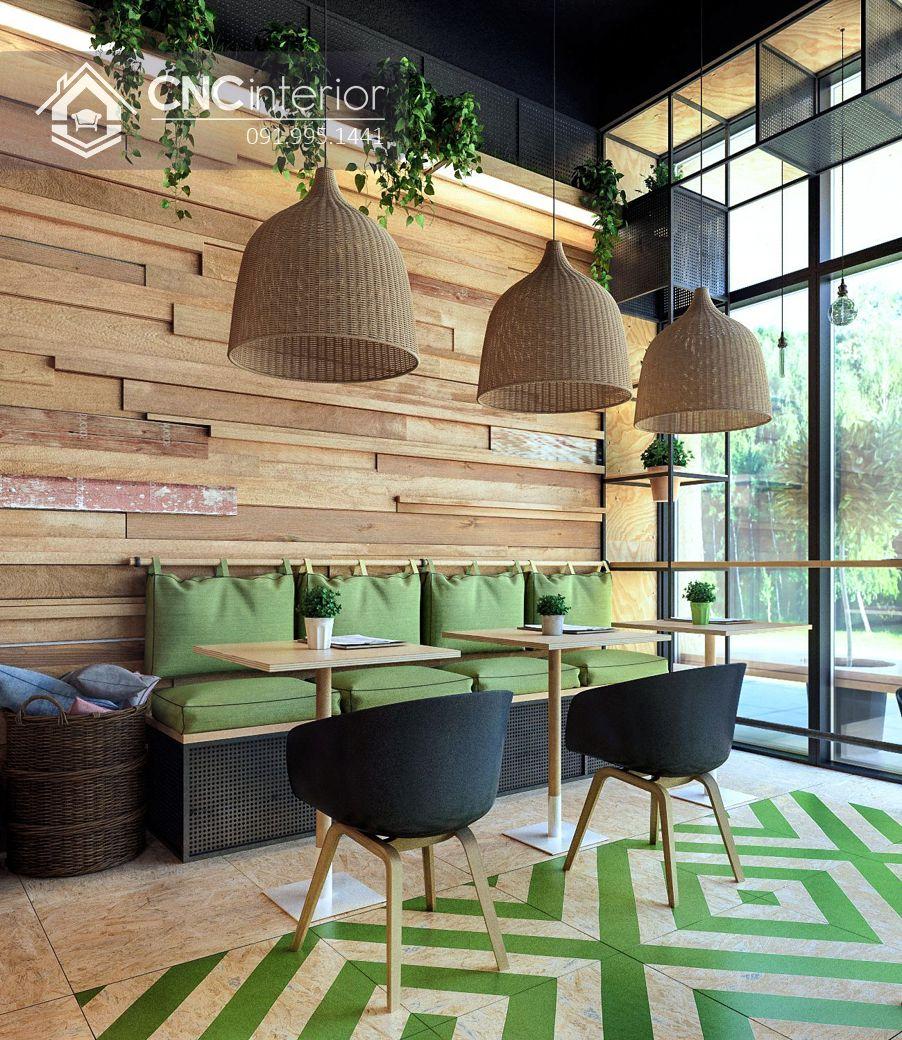 Bàn ghế nhà hàng đẹp trẻ trung CNC 11