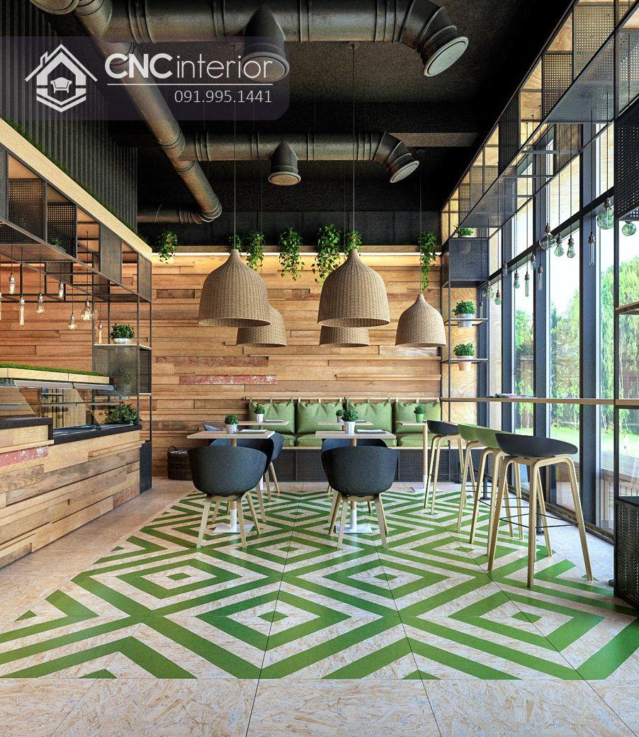 Bàn ghế nhà hàng đẹp trẻ trung CNC 11 1
