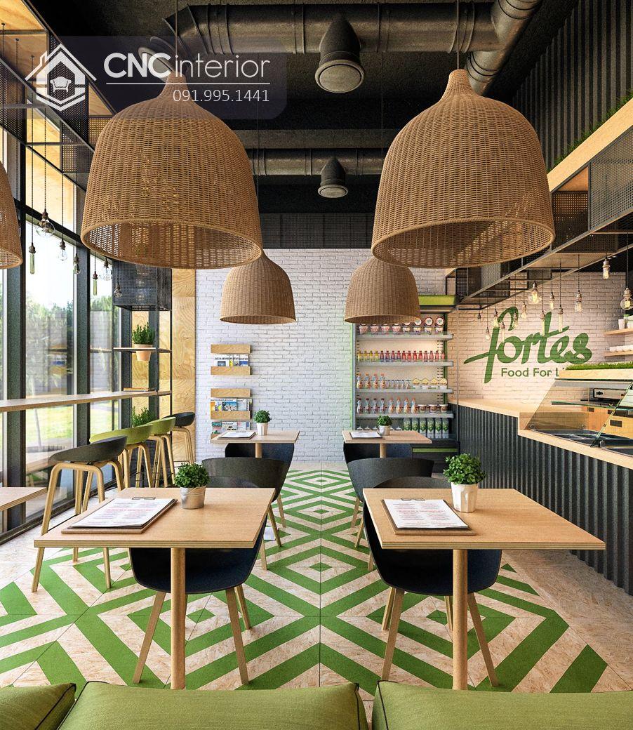 Bàn ghế nhà hàng cnc 11