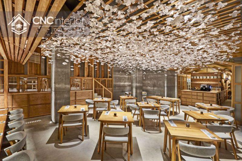 Bàn ghế nhà hàng cnc 12