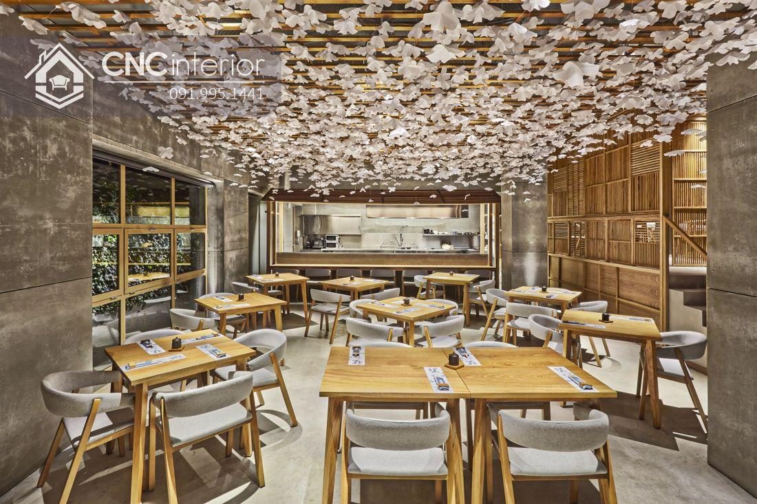 Bàn ghế nhà hàng phong cách Mid Century CNC 12 2