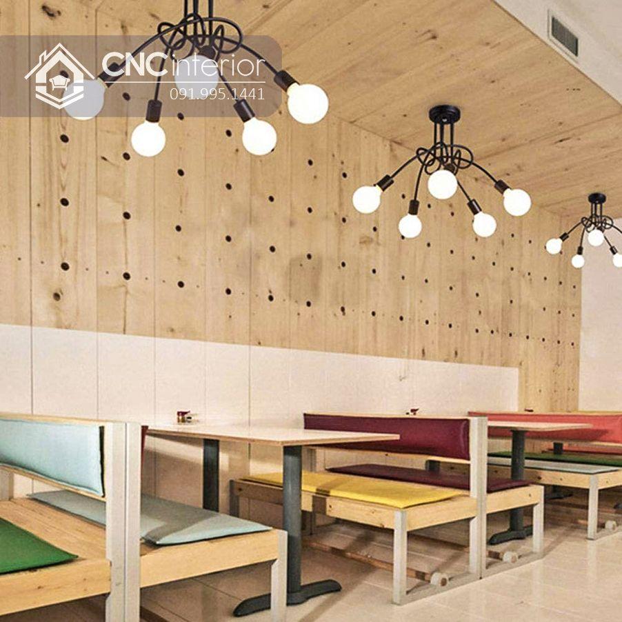 Bộ bàn ghế nhà hàng trẻ trung CNC 13 1