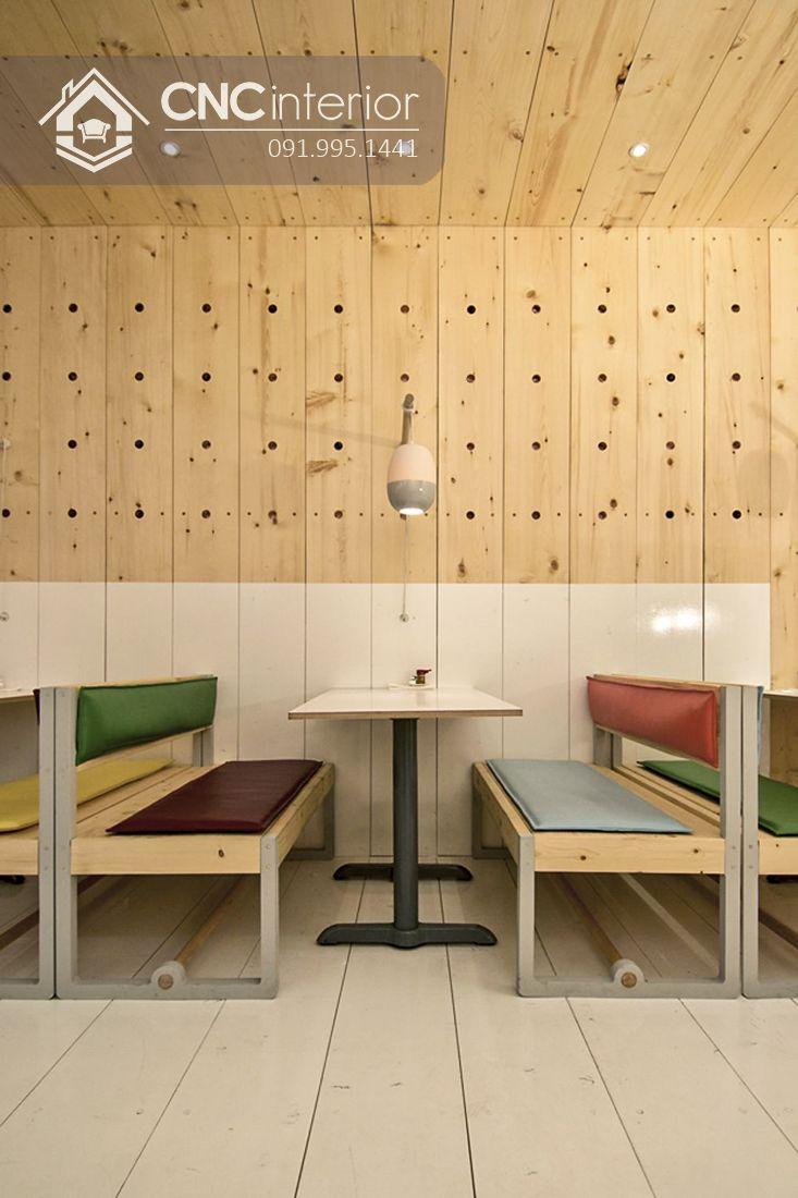 Bàn ghế nhà hàng cnc 13