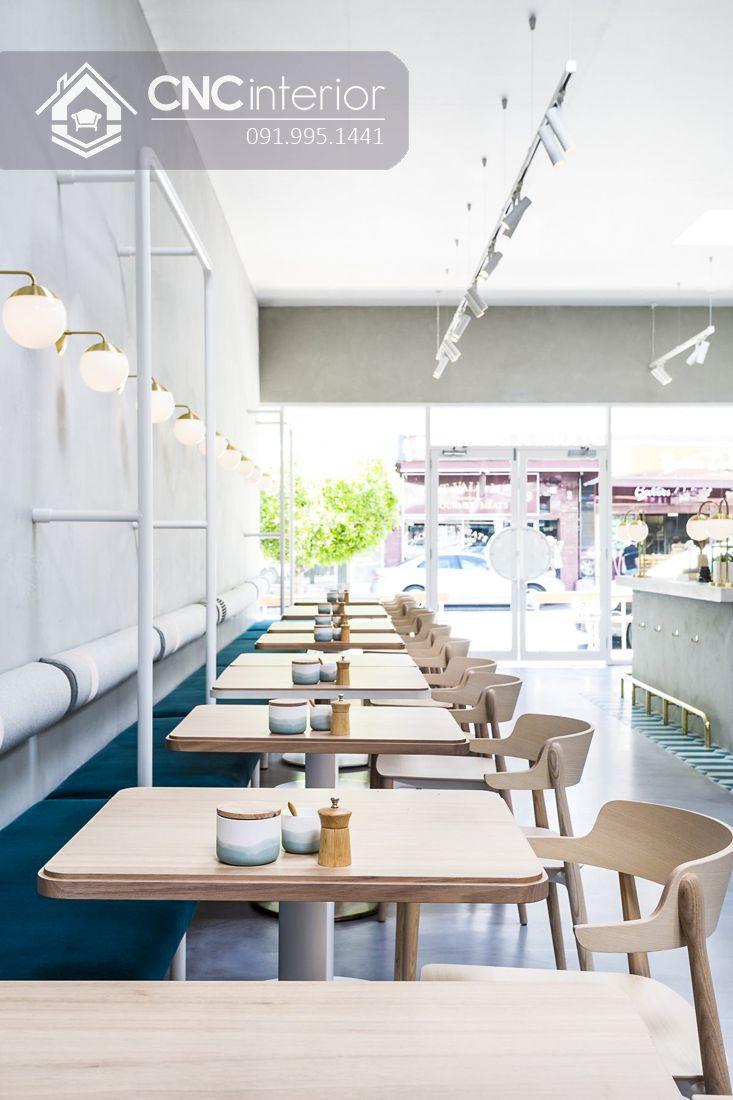 Bàn ghế nhà hàng cnc 01